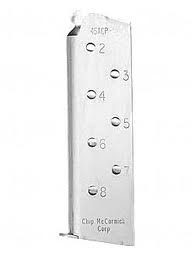 Chip McCormick  Match Grade M1911 Style .45 ACP 8 rd silver