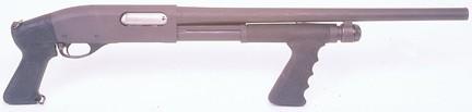 Remington 870 Pistol Grip Forened Black in color