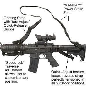 Spec-Ops Mamba Combat Sling For AR-15/M4 Carbine, Black