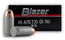 CCI Blazer 45 ACP, 230gr, FMJ, 50 Rds