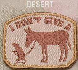I Don't Give A Rat's Ass, Patch in Desert