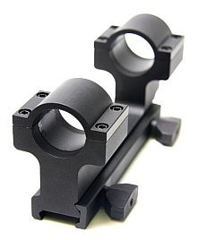 "AR-15 / M16 Flat Top 1"" Dual Ring Aluminum Scope Mount (RR737)"