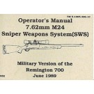 Operator's Manual 7.62mm M24 Sniper Weapon System C-896