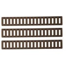 Ergo Low Profile Rail Covers - 18 Slot, 3 pack, Tan