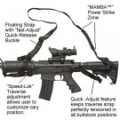 Spec-Ops Mamba Combat Sling For AR-15/M4 Carbine, Black