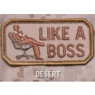 Like A Boss Patch, Desert Tan