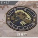 Team Honey Badger, PVC Patch in Desert