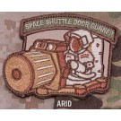 Space Shuttle Door Gunner Patch in Arid