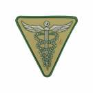 CADUCEUS PVC VELCRO PATCH IN ARID
