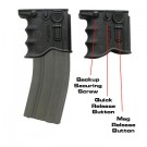 AR15/M4/M16 Quick Release Front Grip Magazine Adapter